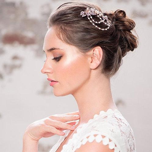 Pearl Romance Hair Comb, Rose Gold or Silver, Bridal Accessories, Bridal Hair, B