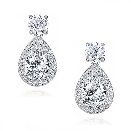 Dazzling Drop Crystal Drop Earrings, Available in Silver, Bridal Accessories, Br