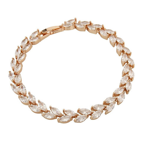 Chic Crystal Bracelet, Available in Silver, Rose Gold or Gold, Bridal Accessorie