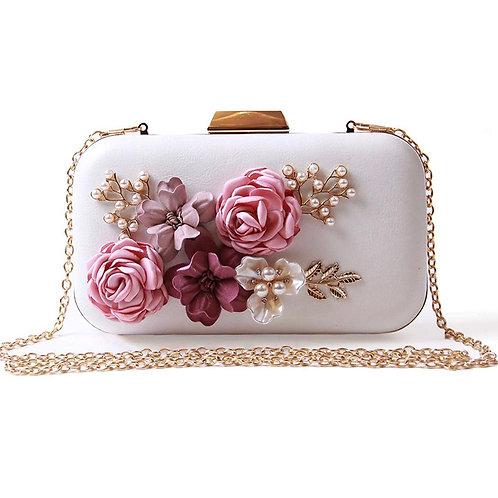 Beautiful Vintage Floral 3D Embellished Clutch Bag, Bridal Bag, Wedding Bag, Var