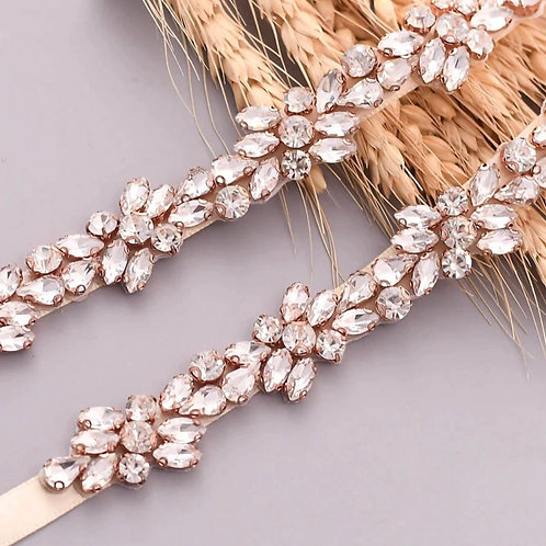 Crystal Cluster Belt, Crystal Embellished Bridal Belt