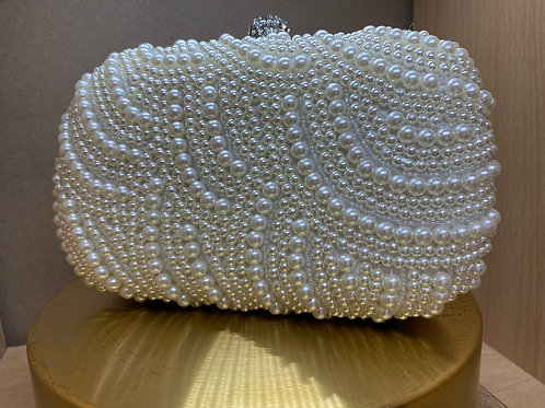 Classic Vintage Pearl Clutch Bag - Pearls both Sides