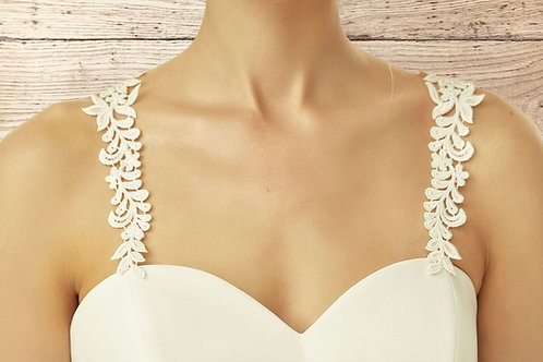 Beautiful Delicate Lace Dress Straps, High Quality Delicate Lace