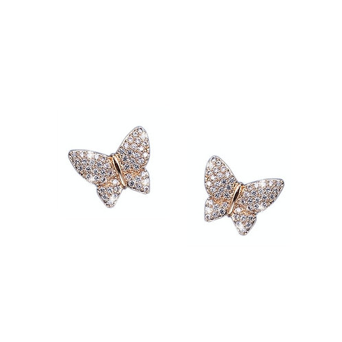 Crystal Butterfly Earrings, Available in Silver or Gold, Bridal Accessories, Bri