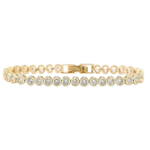 Shimmering Crystal Bracelet, Available in Silver, Rose Gold or Gold, Bridal Acce