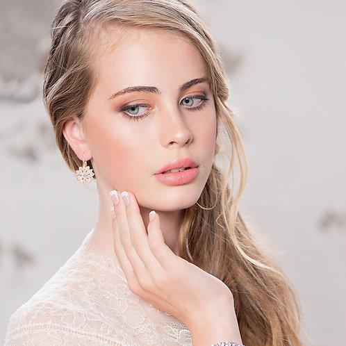 Rose Gold Sparkle Earrings
