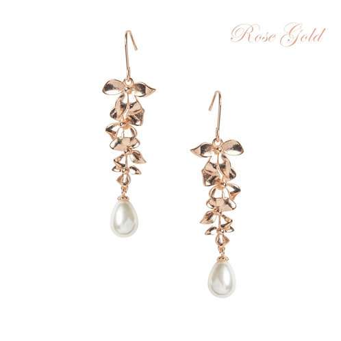 Delicate Orchid Chandelier Earrings, Available in Silver, Rose Gold or Gold, Bri