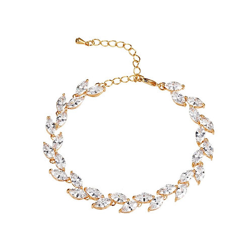 Classic Crystal Bracelet, Available in Silver or Gold, Bridal Accessories, Weddi