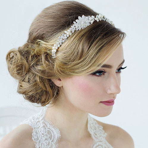 Angelica Luxe Embellished Hair Vine, Special Occasion Hair Accessories, Bridal H