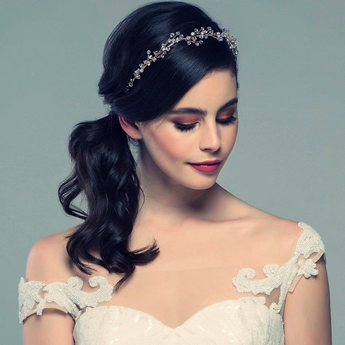 Beautiful Vintage Garland Headband, Bridal Accessories, Bridesmaid Hair, Bridal