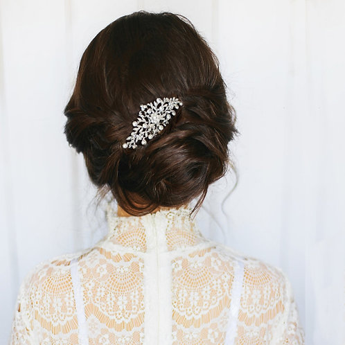 Crystal Divine Hair Comb, Available in Silver, Rose Gold or Gold, Bridal Accesso