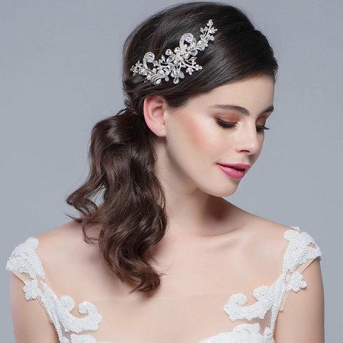 Elise Exquisite Headpiece,  Bridal Hair, Bridal Accessories, Head Piece, Silver