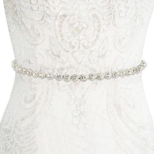 Crystal Treasure Bridal Belt - Silver or Rose Gold