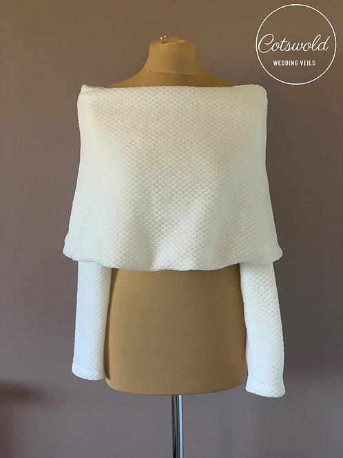 Beautiful Wool Shrug, Wedding Bolero, Bridal Cover Up, Brides, Bridesmaid, High