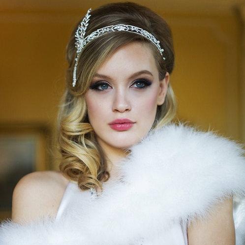 Gatsby Headpiece,  Bridal Hair, Bridal Accessories, Head Piece, Silver Headpiece
