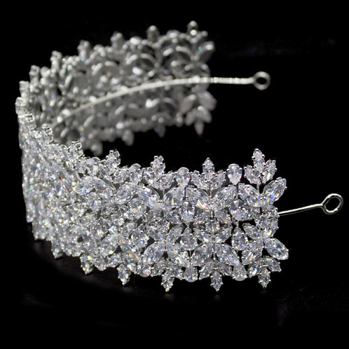 Bejewelled Deco Headpiece,  Silver
