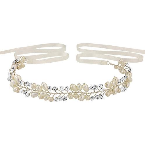 Elegant Crystal & Pearl Hair Vine, Wedding Hair Accessories, Silver, Bridal Acce