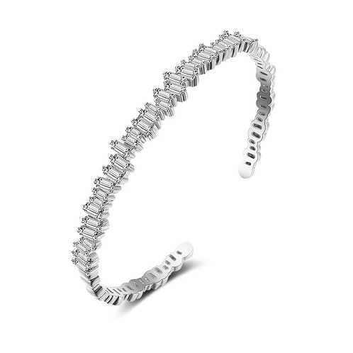 Crystallure Bangle Bracelet, Available in Silver or Gold, Bridal Accessories, We