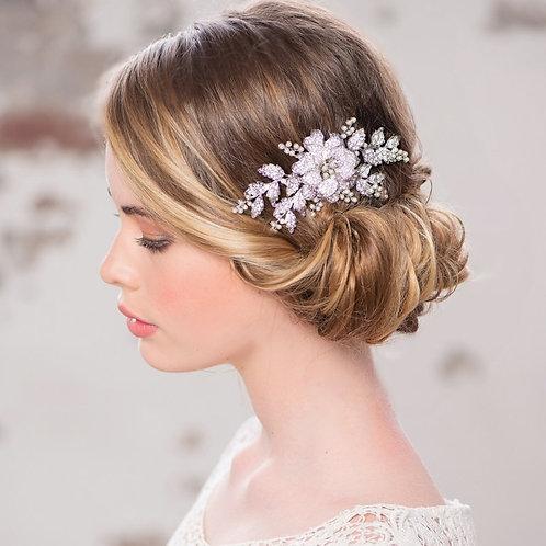 Vintage Floral Headpiece,  Bridal Hair, Bridal Accessories, Head Piece, Silver o
