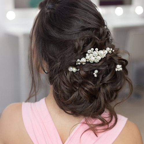 Beautiful Chic Hair Pins Set, Wedding Hair Accessories, Available in Gold or Sil