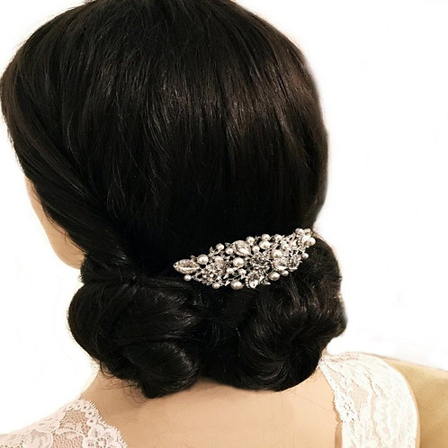 Bridal Hair Comb, Charming Hair Comb, Silver, Rose Gold or Gold, Bridal Accessor