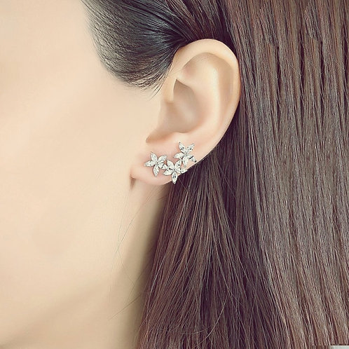 Dainty Sparkle Earrings, Available in Silver, Bridal Accessories, Bridal Jewelle