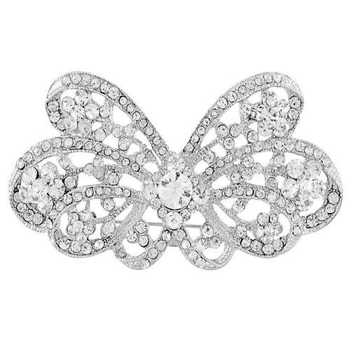 Crystal Belle Brooch, Crystal Dress Brooch, Available in Silver, Bridal Accessor