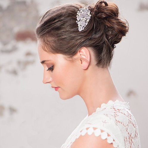 Charming Crystal Hair Comb, Available in Silver, Rose Gold or Gold, Bridal Acces