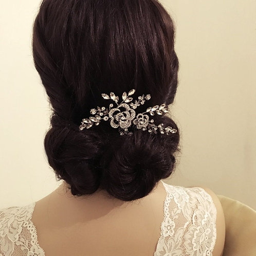 Graceful Beauty Hair Comb, Silver or Rose Gold, Bridal Accessories, Bridal Hair,