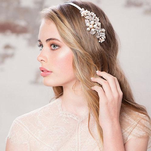 Vintage Bloom Headband, Pearl, Crystal , Floral Headband, Bridal Accessories, Br