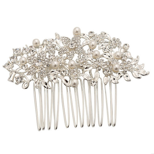 Vintage Chic Pearl Comb, Available in Silver or Gold