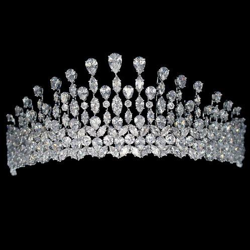 Graceful Starlet Tiara, Wedding Tiara, Bridal Accessories, Silver Tiara, Hair Ac