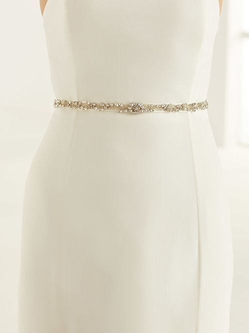 Beautiful Sparkling Crystal & Pearl Bridal Belt, Satin Belt with Embellishment C