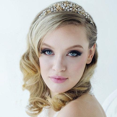 Caroline Bridal Tiara, Wedding Tiara, Bridal Accessories, Gold or Silver Tiara,
