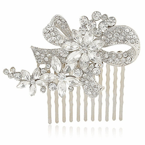 Chic Crystal Hair Comb, Available in Silver, Bridal Accessories, Bridal Hair, Br