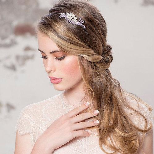 Chic Pearl Headband, Pearl, Crystal , Floral Headband, Bridal Accessories, Bride