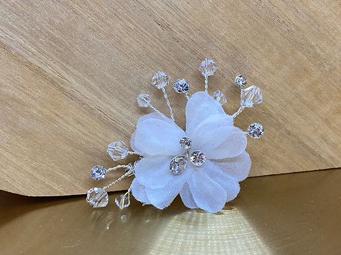 Beautiful Train Pin, Wedding Dress Train Pin, Floral & Crystal Dress Pin, Bridal