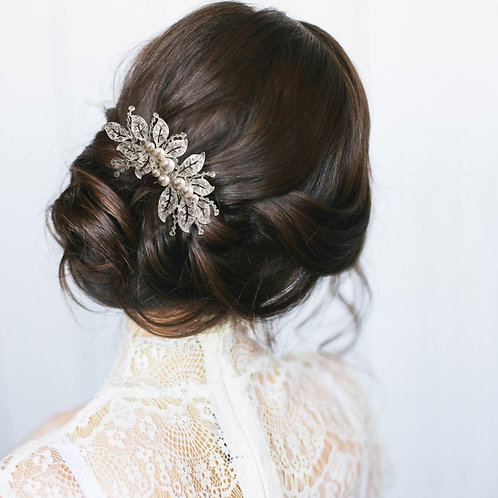 Luxe Vintage Sparkle Comb, Available in Silver or Gold, Bridal Accessories, Brid