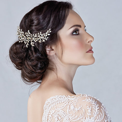 Eternally Opal Bridal Comb, Available in Silver or Gold