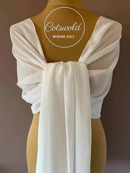 Beautiful Chiffon Scarf - White or Ivory