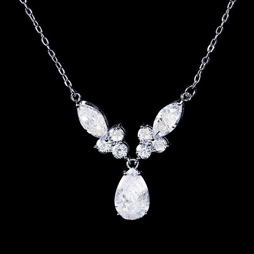 Bejewelled Necklace, Available in Silver,  Wedding Jewellery, Bridal Accessories