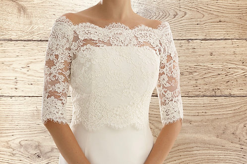 Beautiful Lace Bolero -  Ivory Lace