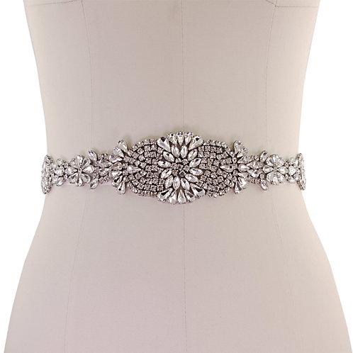 Beautiful Bridal Belt, Exquisite Crystallure Belt,  Wedding Dress Belt