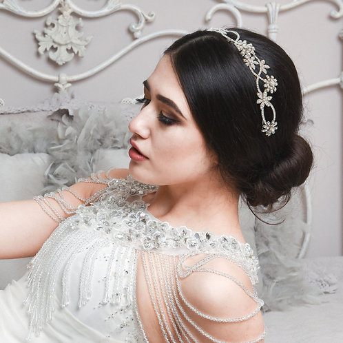Beautiful Pearl Bridal Headband, Bridal Accessories, Bridesmaid Hair,