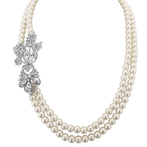 Gatsby Glam Pearl Necklace, Available in Silver,  Wedding Jewellery, Bridal Acce