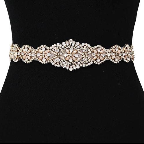 Crystal Bridal Belt, Wedding Dress Belt,Gold, Silver, Rose Gold