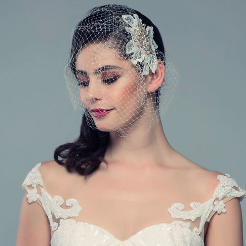 COUTURE BIRDCAGE VEIL - GOLD
