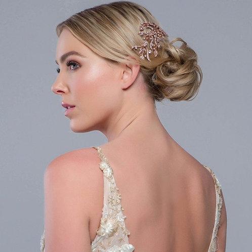 Exquisite Treasure Hair Comb, Silver or Rose Gold, Bridal Accessories, Bridal Ha