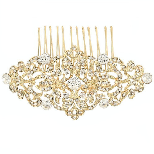 Vintage Luxe Gold Bridal Hair Comb, Available in Gold, Bridal Accessories, Brida