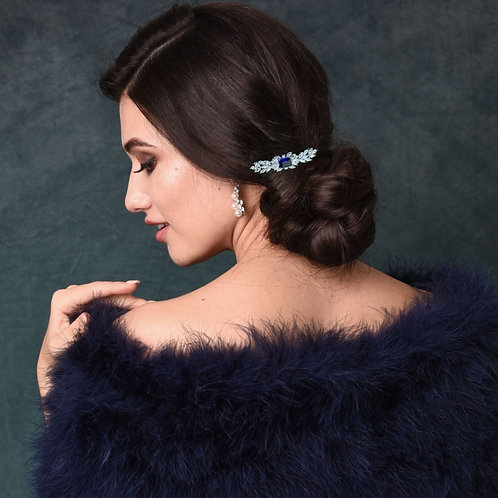 Vintage Inspired Crystal Hair Clip,  Bridal Hair, Bridal Accessories, Bridesmaid